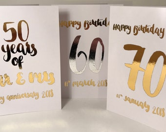 Personalised cards,custom made cards,baptism card,personalised birthday card,anniversary card,rose gold card, personalised mothers day card