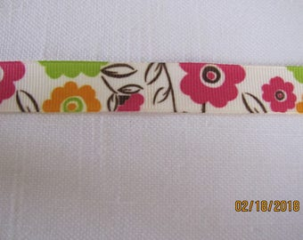 "Floral Botanica 5/8"" Grosgrain Ribbon by the Yard"