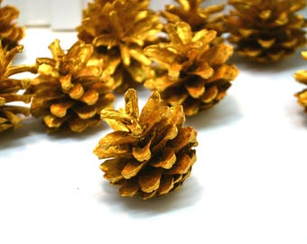 Christmas decor Gold decor Pine tree Pine cone wreath Christmas Ornaments Pine cone garland Nature crafts Natural supplies Holiday crafts