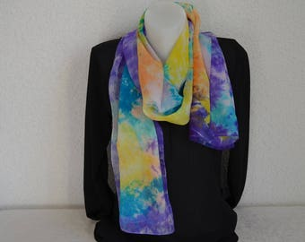 Chiffon - roulote shade 7 handmade scarf