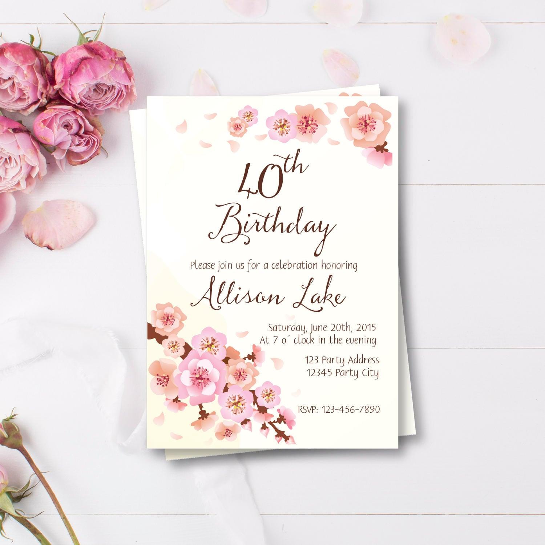 Invitaciones de cumplea os adultos invitaci n para mujeres - Modelos de tarjetas de cumpleanos para adultos ...