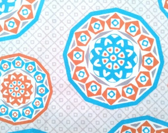 Geometric Cyprus cotton fabric by the yard, half yard fabric, cotton quilt fabric, quilting fabric, medallion fabric