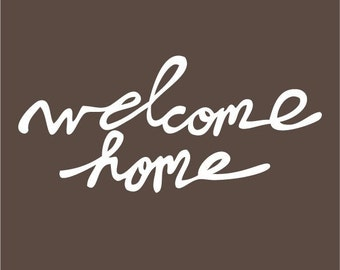 Welcome Home by Elsie Larson elsiecake Red Velvet Art  and A Beautiful Mess vinyl wall decal