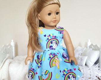 18 inch doll pony dress | blue dress | MLP