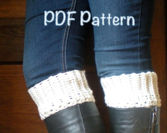 PATTERN: Boot Cuffs, easy crochet P D F email, cream beige, fall autumn fashion, natural boho chic, InsTaNt DoWnLoAd, PERMISSION to SELL