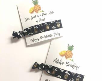 Pineapple Bachelorette Party, Bachelorette Favor, Pineapple Bachelorette, Hair Ties, Hair Tie Bracelet, Pineapple Favor, Pineapple Party