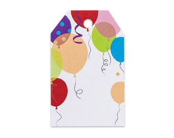 Party Balloons Printed Gift Tags - 2 1/4 x 3 1/2 - 50 Pack