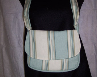 Green Striped Purse