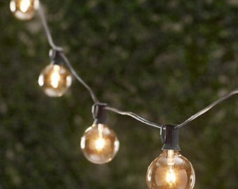 24 Globe Party String Light - 25 ft with Glass Bulbs!