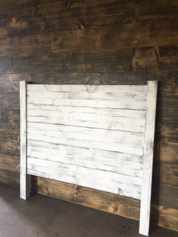Shiplap Headboard Distressed White Wood Headboard Painted