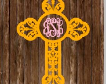 Cross Monogram Decal, monogram, cross, decal