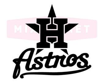 Houston Astros SVG Cut Files, Houston Astros DXF Cutting Files, Houston Astros SVG Dxf Png Cuttable Houston Astros Files, Instant Download