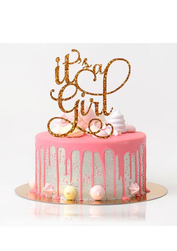 Good Itu0027s A Girl Cake Topper Baby Shower Cake Topper Baby Shower Decoration Baby  Shower Girl Glitter Cake Topper Baby Girl Shower