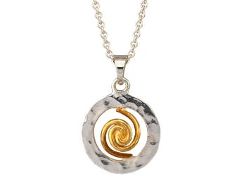 Spiral of Life Pendant - Small version