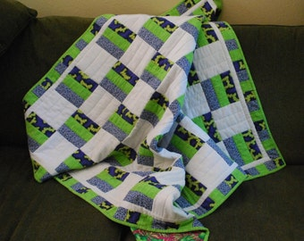 split rail fence crib  or lap quilt