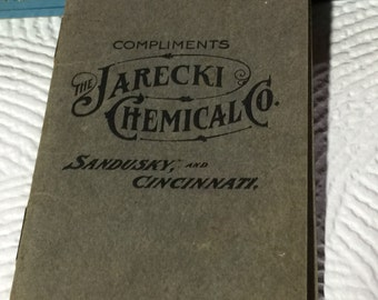Jarecki Chemical  Co Sandusky Ohio Calendar 1910-1911