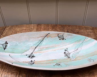 Lime Tree Stoneware Oval Dish
