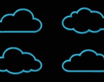 Clouds Applique Embroidery Design