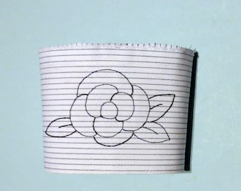 Upcycled Drink Embroidered Drink Sleeve Cuff