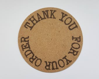 10x Thank you for your order tags, slips, packaging notes, personalised tags, thank you notes, thank you tags, thank you, thank you labels