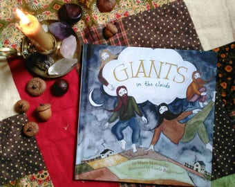 Giants in the Clouds Illustrated Signed Poetry Children's Picture Book