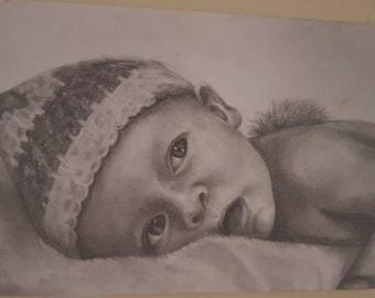A4 Custom Pencil Portraits