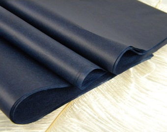 48 Tissue Paper Sheets - Deep Navy Blue Midnight Blue  20 X 30 inches | DIY Wedding Decor Gift Wrap Idea  Favor Box Packaging - DIY Supplies