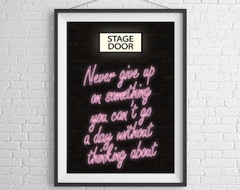 Performance Themed Inspirational Quote Poster