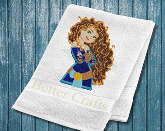 Brave Merida  Machine Embroidery Applique Design