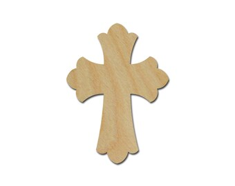 Wood Cross Unfinished Wooden Craft Crosses Stainable Paintable Part C15- 026