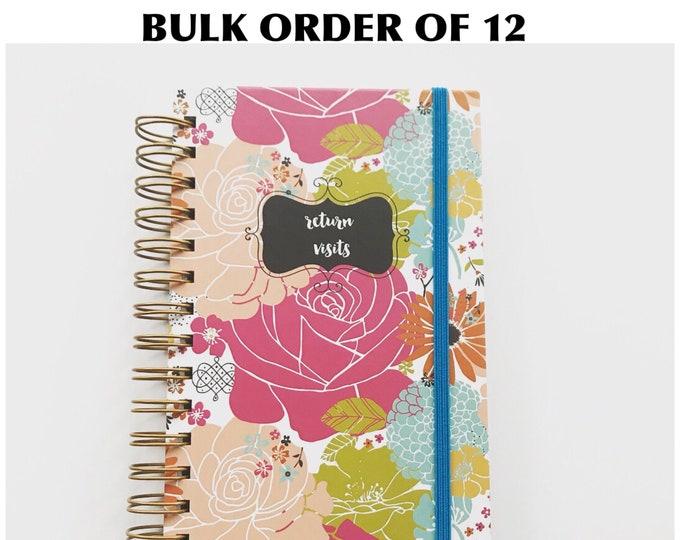 BULK ORDER OF 12 Colorful Blooms Handmade Return Visit Books