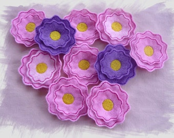 Flower Feltie Layered In The Hoop Machine Embroidery Design