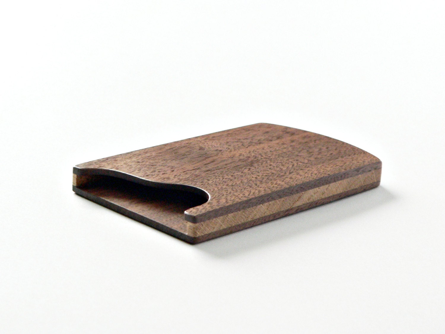 Wood business card holder business card case slim card