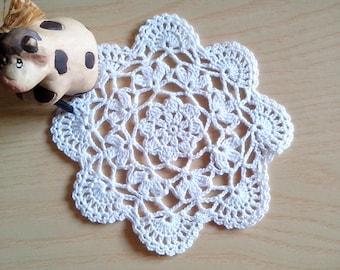Crochet Small DOILY / crochet coaster Crochet lace small doily/ Home decor/ Doilies small doily, crochet coasters, crocheted doily doilies