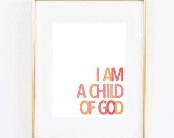 child of god 11x14 art print instant download