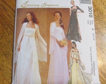 TUDOR Style Medieval WEDDING Gown - Fit and Flare Dress with Angel Sleeves - Choose Your Size - UNCUT Sewing Pattern McCalls 3010