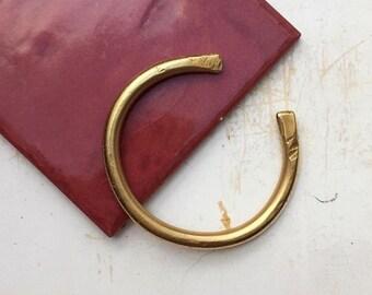 FOLG torque bangle - open thick brass cuff bracelet
