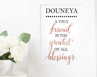 A *DIGITAL DOWNLOAD*- Customised friendship Quote/Gift print/artwork