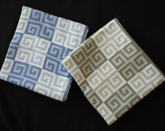 Colorful throw or child's blanket.  Greek Key design in easy-care bamboo.  Cashmere-soft & machine washable.  Free shipping.