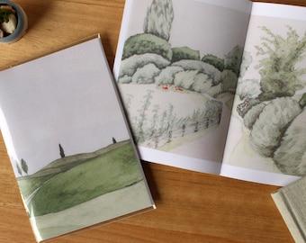 Zine. New Zealand - A Journey In Watercolor. Travel Art Book
