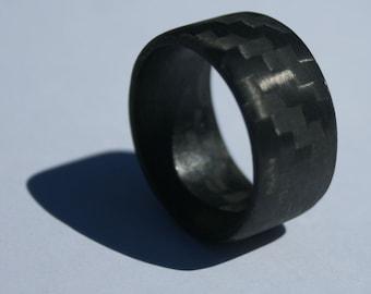 Pure Carbon Fiber Ring - Horizontal Pattern Matte Finish