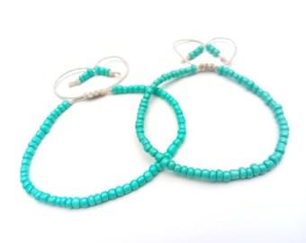 1-4pc Ankle Bracelet Set Hemp Anklet, Hemp Bracelet, Anklets With Beads, Beach Anklet Summer Jewelry Hemp Jewelry Anklet Set Bracelet Set