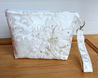 White Clutch Purse, Wedding Clutch Bag, Wedding Purse, White Bridal Bag, Bridal Purse, White Bridal Clutch, White Handbag, White Purse