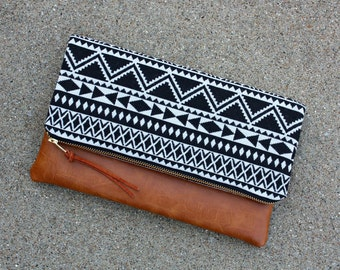 Southwestern Foldover Clutch / Kindle Case