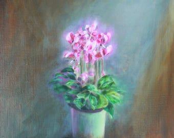 Original oil painting- 'Winter Flower'