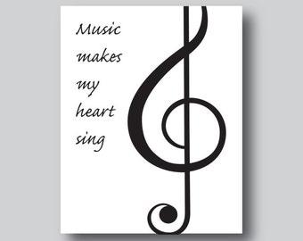 Music Inspired Art, Music Gift For Men, Music Inspired Gifts, Music Teacher Gift, Music Lover, Music Gift, Gift For Music Teacher