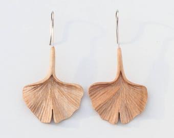 Wood earrings, Wooden earrings,  Natural earrings, Natural jewelry