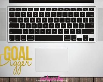 Goal Digger vinyl sticker decal - Laptop Sticker Decal, Macbook Decal Sticker (ST0009)