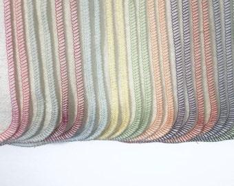 12 Organic bamboo cotton fleece cloth diaper inserts, super soft, super absorbent!
