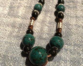 Porcelain Beads Necklace